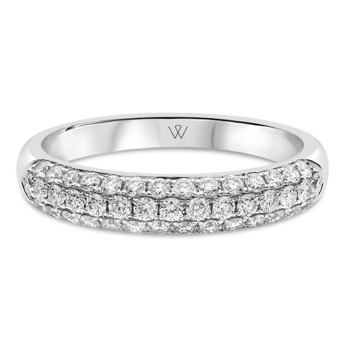 This is a graphic of 47ct White Gold Ladies Pave Set Wedding Ring / Dress Ring Wishart Jewellers